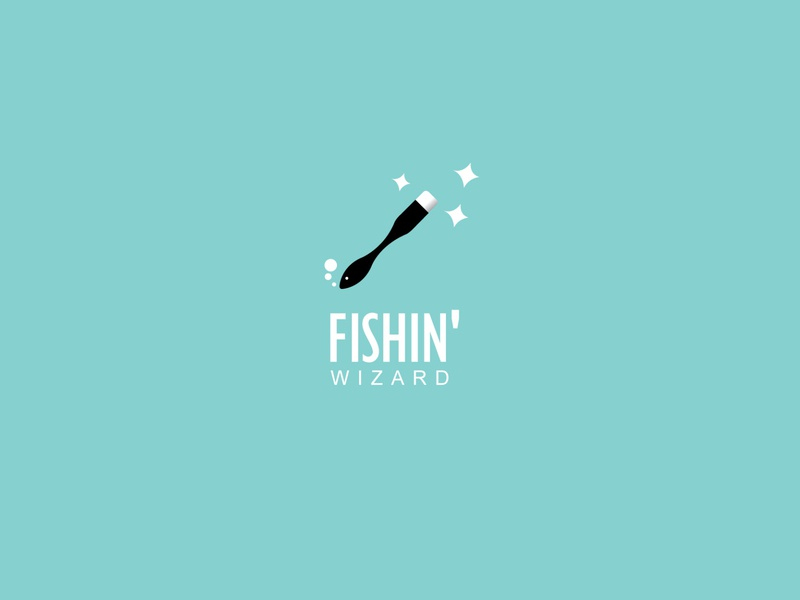 Magic Fish logo magician wizard fish magic illustration branding icon logo design vector