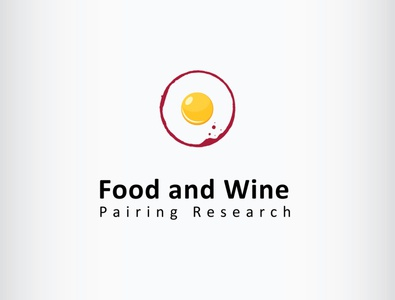 wine egg logo design drinks food breakfast egg stain wine illustration branding icon logo design vector