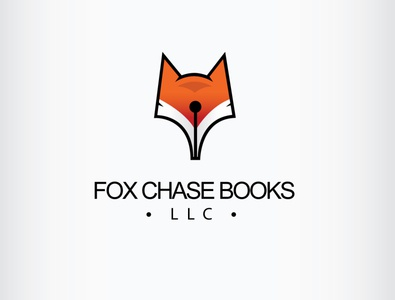 Fox Author Logo wild pencil nib pen books fox illustration branding icon logo design vector