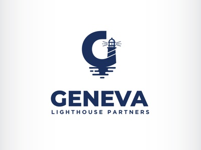 G letter lighthouse logo lighthouse geneva lettering initial letter illustration branding icon logo design vector