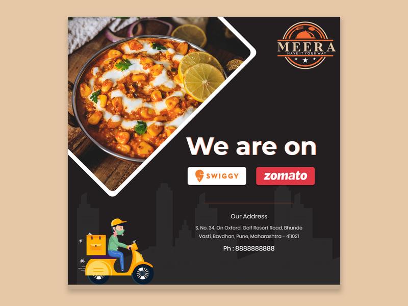 Social Media Banner food covid19 photoshop illustration graphic design creative ui branding banner ads design