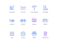 icons about afterschool activities