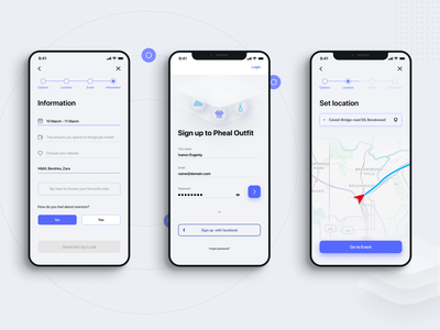Pheal — outfit for every day, mobile application uidesigns uiux mobiledesign appdesign interaction simple clean interface minimalism figma uidesign appdesigner simple web design