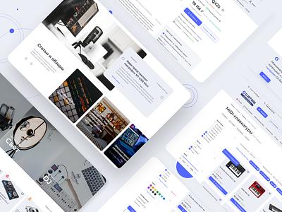 Music Store, e-commerce music product webdesigner design designer ux uxuidesign e-commerce e-store brandbook branding dribbble behance web interface uxdesign uidesign uxui webdesign ui