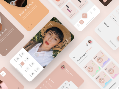 Lirellate - make up & skin care, mobile application beauty product loreal apple mobileapplication appdesign mobileapp android ios beauty concept interface dribbble uiux behance uidesign ux figma design ui