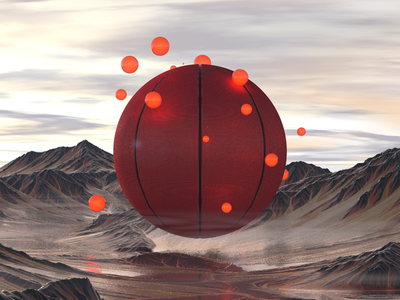 Gravity Basketball webdesign photoshop figma digitalart digital elite symbol space digitalartist glow red ui ux cinema4d design academy basketball c4d 3d gravity
