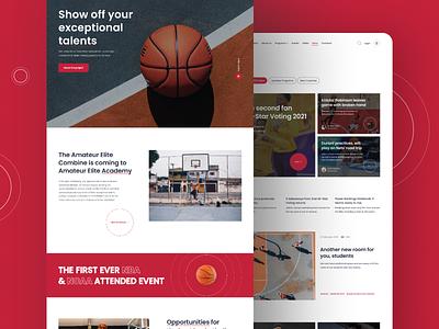 Amateur Elite Academy concept interface uidesign dribbble uiux behance ux figma webdesign design ui