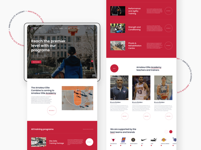 Programs, Amateur Elite Academy webdesigner web interface uiux ux uidesign figma webdesign ui design