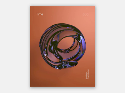 Time 2.2, 2/3 3d artist poster abstract 3d art motion design motion motion graphics design motion graphics 3d animation redshift render 3d behance ux uidesign webdesign uiux figma ui design