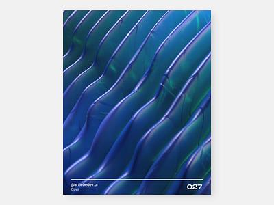 Cava, 027 nft abstract art artist modeler redshift render renderer 3d art motion graphics motion 3d illustration ux uidesign uiux webdesign figma ui design