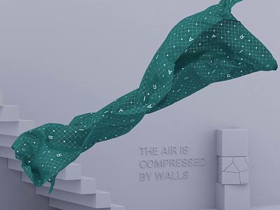 Elements of Air abstract render redshift simulate cloth designer 3d design 3d animation 3d motion animation motion motion graphics illustration 3d uidesign uiux figma webdesign ui design
