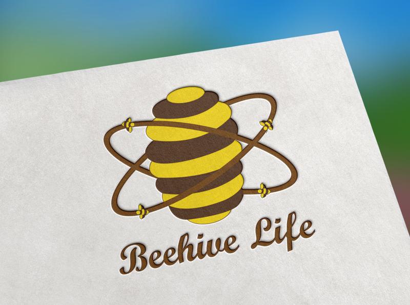 Bee Logo honeycomb business branding identity agency logo company graphic art bee hive symbol honey bee honey design branding logodesign bee logo bee