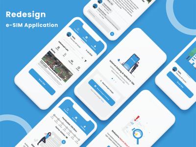 Redesign e-SIM Application ux design ui design ui ux design uiux ui  ux mobile design mobile device mobile app mobile ui uidesign graphic design typography ux ui