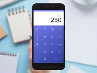 Daily UI Challenge 004: Calculator