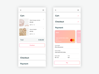 Checkout | Daily UI 002 daily challange daily ui 002 dailyui mobile design ux ui checkout card