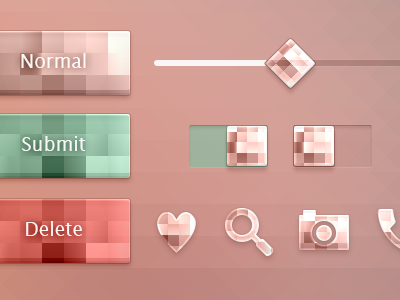FlatUI parts - Crystal style - Square
