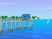 Bord de mer - Illustration