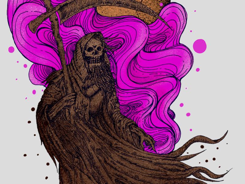 The Lifetaker surrealism dark hand drawing tees design epic urban skull reference inspiration artwork illustration t-shirt design