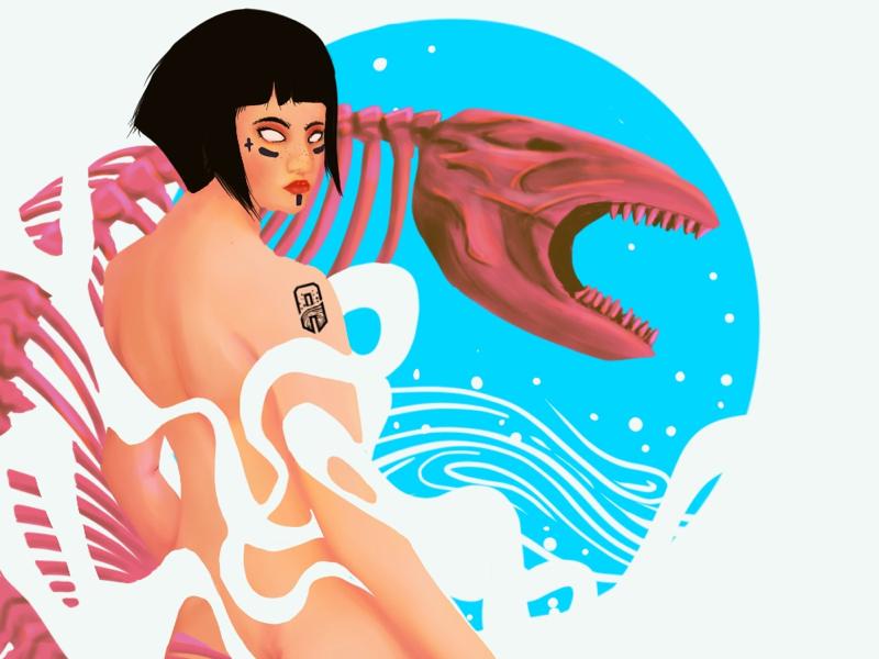 Nameless G1RL digitalart procreate pop illustration popart reference character artist drawing inspiration design art illustration artwork digital digital drawing
