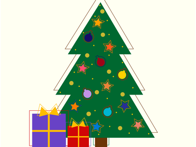 christmas picture violet red green toys design newyear illustraion christmastree