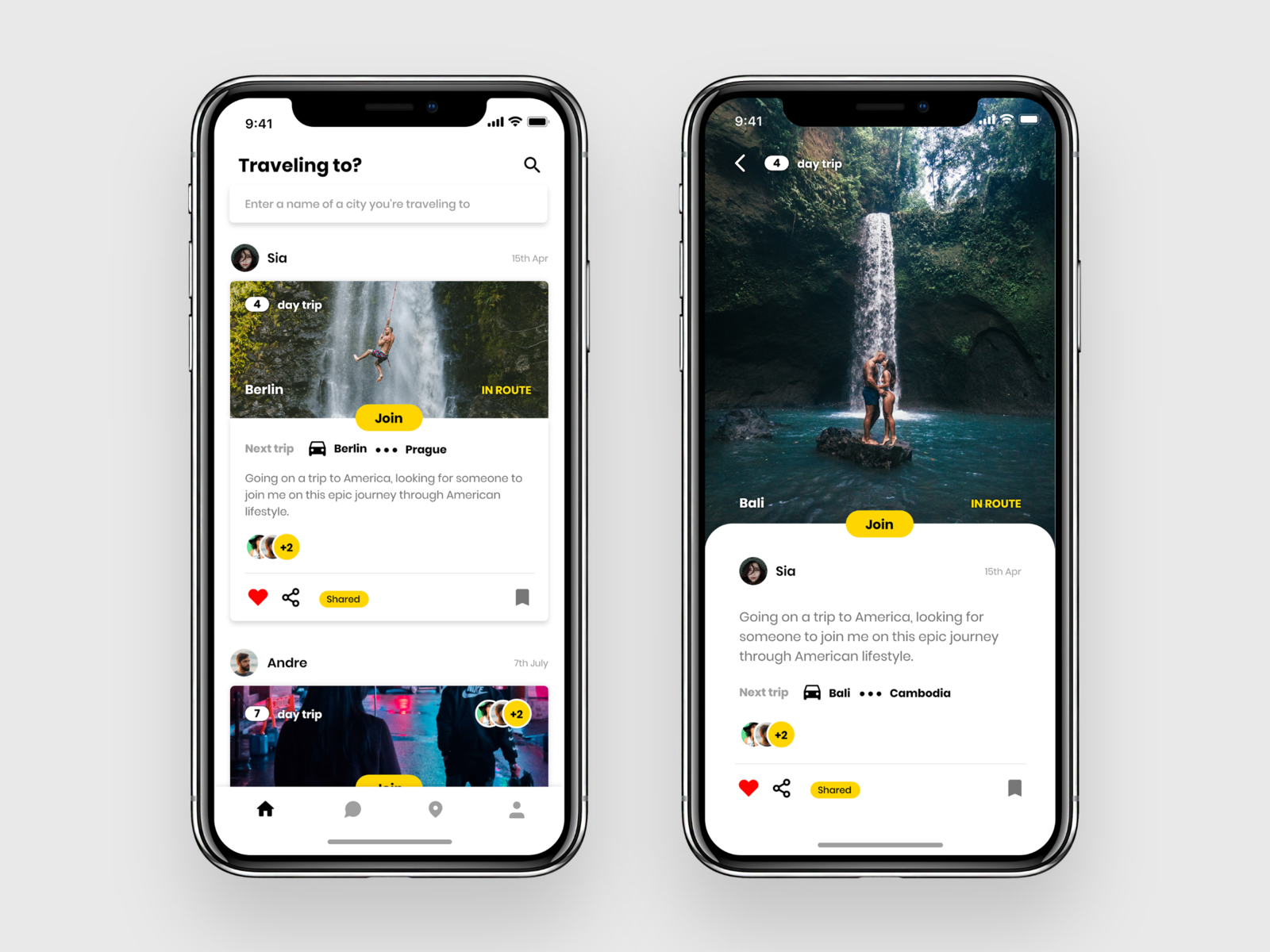 Backpack - UI Kit Free for Adobe XD ui kit travel app social app ios free ui kit freebie xd freebie ux uiux ui uidesign adobe xd