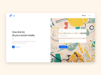 Landing page for a start-up