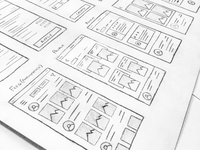 Wireframes for a project coming soon