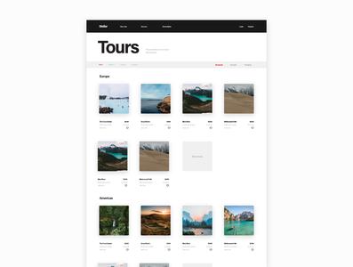 Explore Tours blog design ui kit booking flights web search travel tours