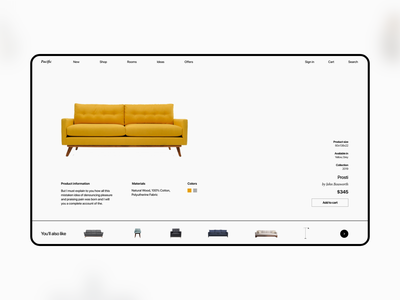 Pacific Web UI Kit web minimal shop store furniture store furniture architechture interior ui kit figma adobe xd