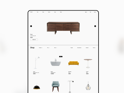 Pacific Web UI Kit web ui kit shop minimal interior design store furniture store furniture figma architecture adobe xd
