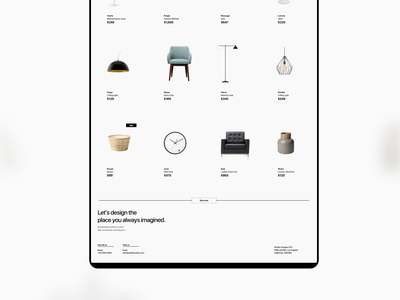 Pacific Web UI Kit clean minimalist ui kit shopping web design products furniture home interior design architect adobe xd