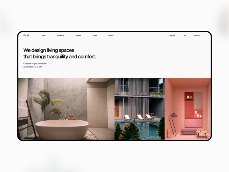 Pacific Web UI Kit suisse modern architecture ui ui kit interior interior design web design landing page