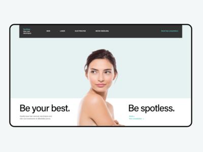Skin Treatment Salon - Landing Page beauty salon beauty health dermatology skincare webdesign uiux uidesign adobe xd ux ui
