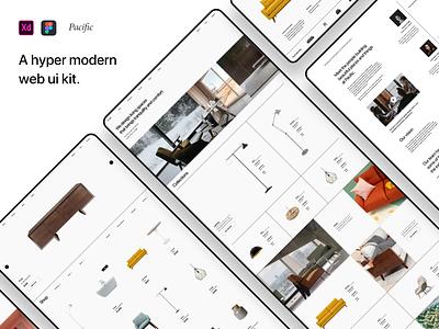 Pacific Web UI Kit mobile web ui kit shop design interior furniture store furniture architecture figma adobexd