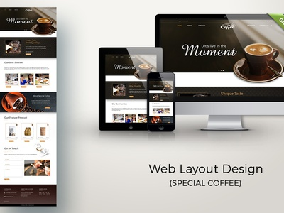 Web Layout Design (Special Coffee)
