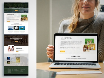 Web Layout Design (Wildlife - Feel Their Voice)