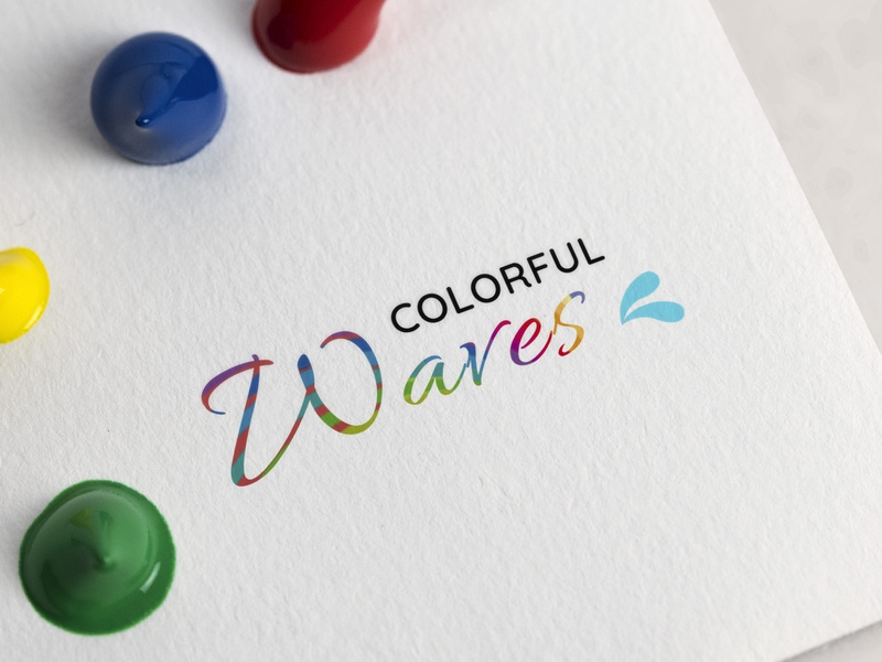 Logo Design (Colorful Waves) photoshop love 99designs waves colorful logo designlife designlove creative design graphic