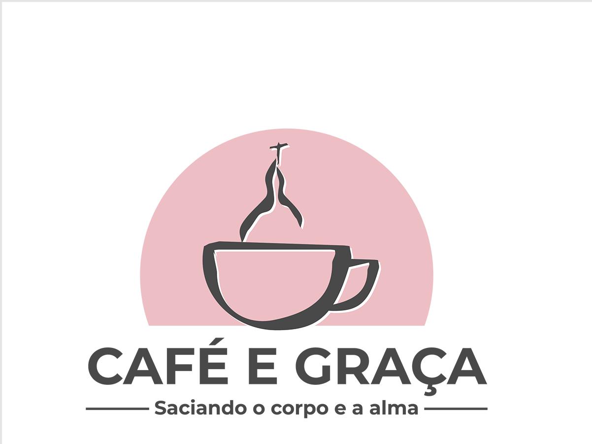 Caf    Gra A   Logo illustration vector church grace coffee shop coffee