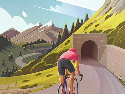 Zoncolan WIP giro cycling forest trees landscape mountains bicycle italy tour de france