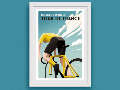The Yellow Jersey road cycling bike poster bicycle illustration yellow jersey maillot jaune tour de france le tour cycling