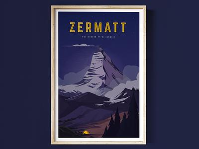 Zermatt - Matterhorn snow forest clouds ascent cimbing camping mountain schweiz switzerland swiss alps eiger matterhorn zermatt
