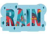 Rain雨季主题插画