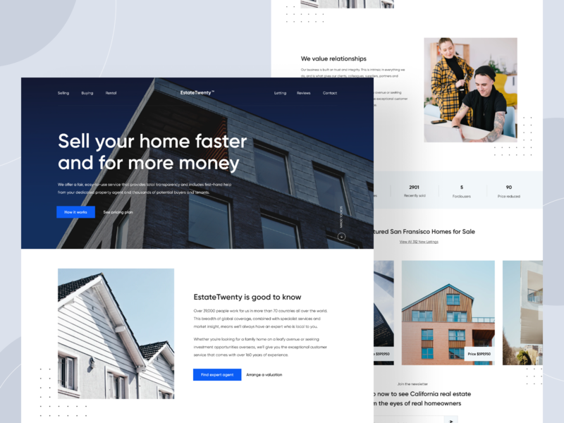 Real Estate Agent Website UI Design landingpage website estate agency estate agents estate agent real estate logo uiuxdesigner agent property finder property business property real estate branding real estate agency real estate agent real estate realestate design uiux uidesigner uidesign
