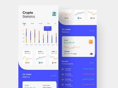 Crypto Wallet & Statistics app designer app  design finance app finance wallet app wallet crypto designer app ui app ui design appui app android app app concept ios uiux ui uidesigner uidesign design