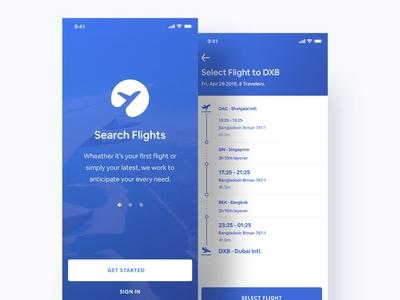 Flight Booking App - Behance Case Study 👇