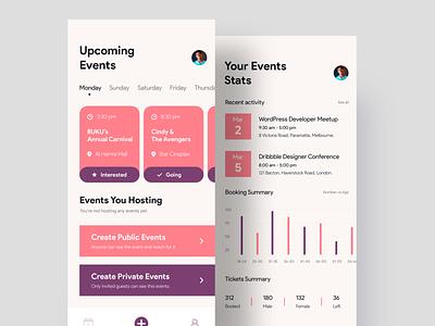 Events Management App app designer ios app icon ux design management app app  design events app events designer app app ui app ui design appui ui android app ios app concept uiux uidesigner uidesign design