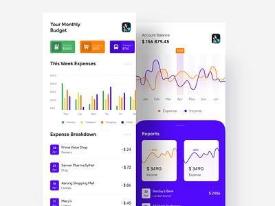 Budget Calculation App finance budget app budget finance app designer app ui app ui design appui app android app ios app concept uiux ui uidesigner uidesign design
