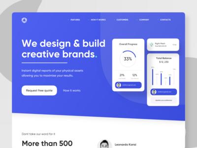 Design Agency Landing Page Header Design