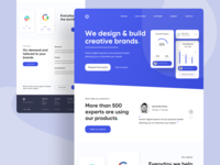 Agency Website Home Page UI Design