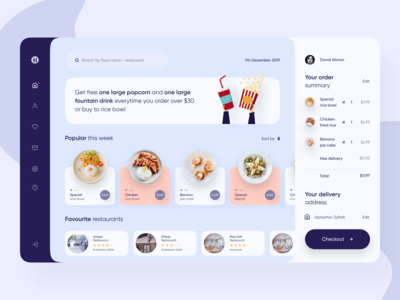 Food Delivery Dashboard UI Design